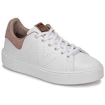 Zapatos Mujer Zapatillas bajas Victoria UTOPÍA PIEL VEG Blanco / Rosa