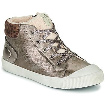 Zapatos Niña Zapatillas altas Victoria HUELLAS METAL Plata