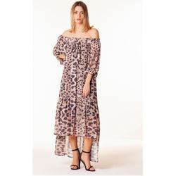 textil Mujer Vestidos Odi Et Amo VESTITO MIDI SCOLLO BARCA beige