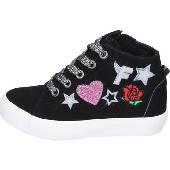 Zapatos Niña Zapatillas altas Fiorucci sneakers gamuza sintética negro