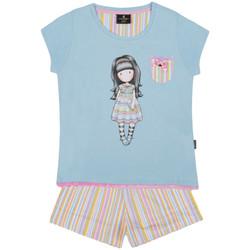 textil Niña Pijama Admas Camiseta de pijama corto y todo lo bonito Santoro azul Azul