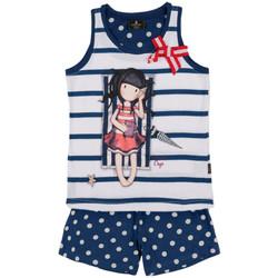 textil Niña Pijama Admas Pantalones cortos de pijama camiseta tirantes Summer Days Azul Marine