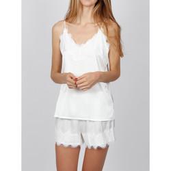 textil Mujer Pijama Admas Pyjama Soft Crepe blanco Blanco