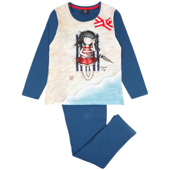 textil Niña Pijama Admas Pijamas de manga larga pantalones verano Santoro Azul Marine