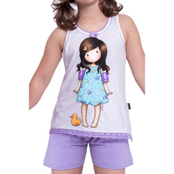 textil Mujer Pijama Admas Camiseta corta del pijama Pato Pequeño Santoro marfil Amarillo