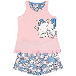 textil Niña Pijama Admas Pantalones cortos de pijama sin mangas Lazy Marie Disney rosa Rosa Pálido