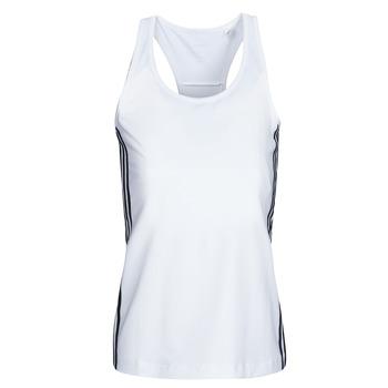 textil Mujer Camisetas sin mangas adidas Performance W D2M 3S TANK Blanco