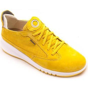 Zapatos Mujer Deportivas Moda Geox Aerantis A Suede amarillo