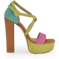 Zapatos Mujer Sandalias Exé Shoes SANDALIA DE TACÓN ALTO MULTICOLOR LINA-651 Color Multicolor