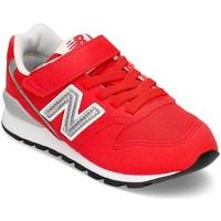Zapatos Niños Zapatillas bajas New Balance 996 Blanco, Rojos