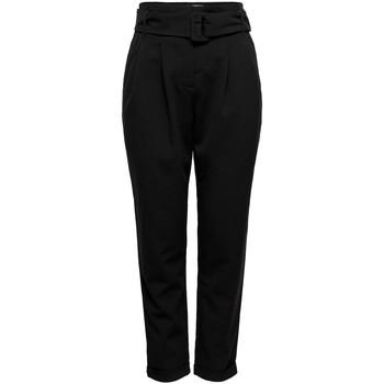 textil Pantalones Only ONLSICA HW PAPERBAG PANTS Negro