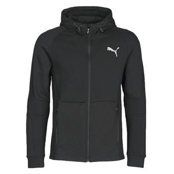 textil Hombre chaquetas de deporte Puma EVOSTRIPE FZ HOODY Negro