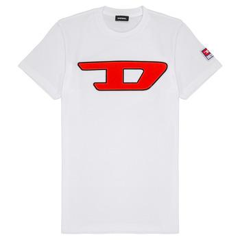 textil Niños camisetas manga corta Diesel TJUSTDIVISION Blanco