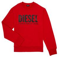 textil Niño Sudaderas Diesel SCREWDIVISION LOGO Rojo