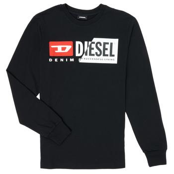 textil Niños Camisetas manga larga Diesel TDIEGOCUTY Negro
