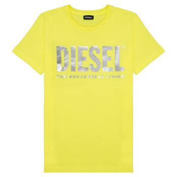 textil Niña camisetas manga corta Diesel TSILYWX Amarillo