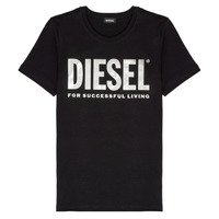 textil Niña Camisetas manga corta Diesel TSILYWX Negro