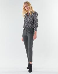 textil Mujer Pantalones con 5 bolsillos Freeman T.Porter CLAUDIA POLYNEO Gris