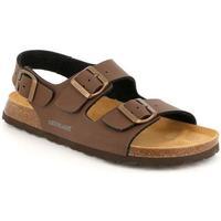 Zapatos Hombre Sandalias Grunland DSG-SB3645 MOGANO