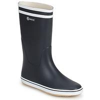 Zapatos Mujer Botas de agua Aigle MALOUINE Marino / Blanco