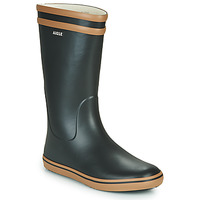 Zapatos Mujer Botas de agua Aigle MALOUINE Negro / Camel