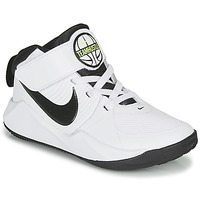 Zapatos Niño Baloncesto Nike TEAM HUSTLE D 9 PS Blanco / Negro