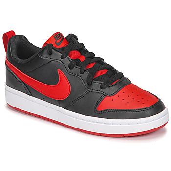 Zapatos Niños Zapatillas bajas Nike COURT BOROUGH LOW 2 GS Negro / Rojo