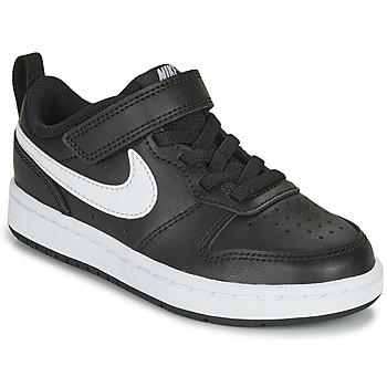 Zapatos Niños Zapatillas bajas Nike COURT BOROUGH LOW 2 PS Negro / Blanco