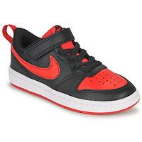Zapatos Niños Zapatillas bajas Nike COURT BOROUGH LOW 2 PS Negro / Rojo