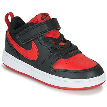 Zapatos Niños Zapatillas bajas Nike COURT BOROUGH LOW 2 TD Negro / Rojo