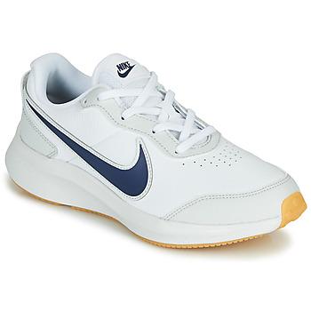 Zapatos Niño Zapatillas bajas Nike VARSITY LEATHER GS Blanco / Azul