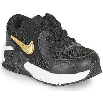 Zapatos Niños Zapatillas bajas Nike AIR MAX EXCEE TD Negro / Oro