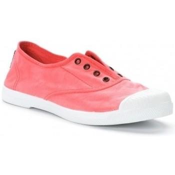 Zapatos Mujer Tenis Natural World Tennis en toile Aspect Délavée 652-102E Rouge Enz Rojo