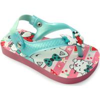 Zapatos Niños Sandalias Brasileras Chancla ®,Printed 20 Baby Kitten Water Green
