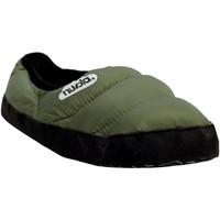 Zapatos Pantuflas Nuvola. Zapatilla de estar por casa NUVOLA®,Clasica Suela de Tela Green Military