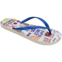 Zapatos Mujer Chanclas Brasileras Chancla ®,Printed Socialflop Blue Royal