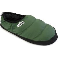 Zapatos Pantuflas Nuvola. Zapatillas de estar en casa Clasica Suela de Goma Green Military