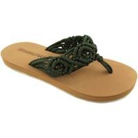 Zapatos Mujer Sandalias Brasileras Crochet Green Military