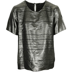 textil Mujer Tops / Blusas Paul Smith Top col rond ample lamé Swirl Negro