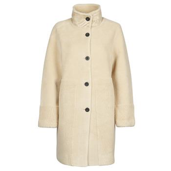 textil Mujer Abrigos Esprit LL* FAKE FUR Beige