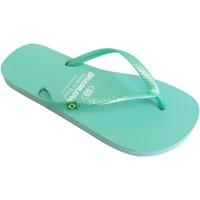 Zapatos Mujer Chanclas Brasileras Chanclas de playa ®, Classic Pearl W Water Green