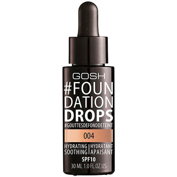 Belleza Mujer Base de maquillaje Gosh foundation Drops Hydrating Spf10 004-natural  30 ml