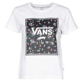 textil Mujer Camisetas manga corta Vans BOXED IN BOXY Blanco