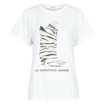 textil Mujer Camisetas manga corta Replay W3509D Blanco