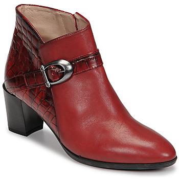 Zapatos Mujer Botines Hispanitas PIRINEO Rojo