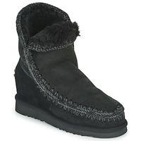Zapatos Mujer Botas de caña baja Mou ESKIMO INNER WEDGE SHORT Negro