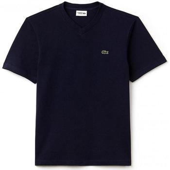 textil Hombre camisetas manga corta Lacoste TH7419-166 Negro