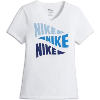 textil Niña Camisetas manga corta Nike 822511-100 Blanco