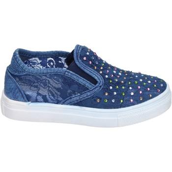 Zapatos Niña Slip on Asso slip on textil azul