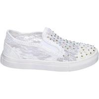 Zapatos Niña Slip on Asso slip on textil blanco